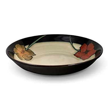 Pfaltzgraff Everyday Painted Poppies Large Pasta Serving Bowl, 2.5-Quart