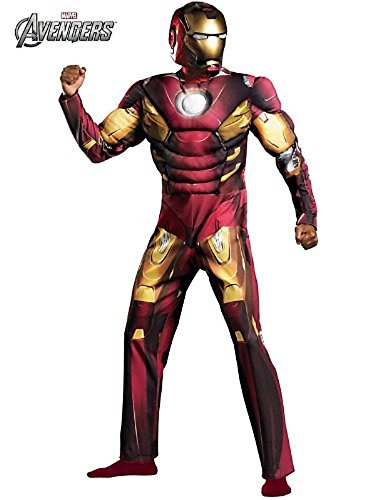 Iron Man Mark 7 Costume (Avengers Classic Muscle Iron Man Mark 7 Costume for Men)