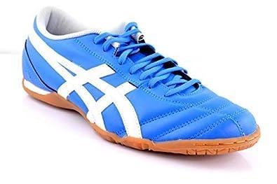 19bfefd76f6 ASICS DS X-Fly en Bleu Blanc Hommes Chaussures de Football Chaussures de Sport  Sport