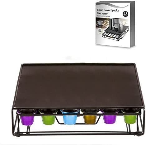 dcasa - caja dispensador capsulas nespresso 48 units: Amazon.es: Hogar
