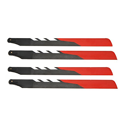 GigaMax(TM)2 Pairs High Quality TNS Talent 325mm Carbon Fiber Training Rotor Main Blade for TREX 450 RC - Carbon Blade 325 Rotor