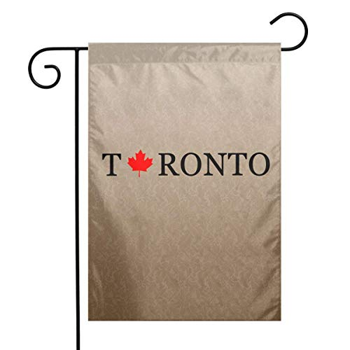 Ambulseek Toronto Garden Flag Weather Resistant Family Party Flag - Only One Side - 12