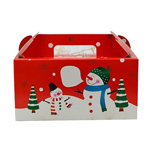 STOBOK 10pcs Cajas de Galletas de Navidad Pastel portátil horneado Cupcake Muffin Cajas Cajas de Fiesta de cumpleaños con...