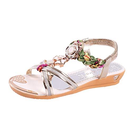 c7b7a6c2cd0 Talons Plage Sunnywill Plat 2019 Cristal De D été Sandales Mode Casual  Sandale Hauts Or Chaussures Compensées Femmes pnrPqpOw