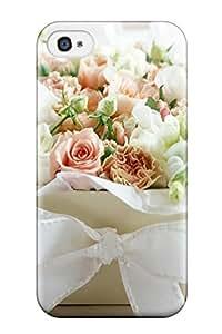 Belinda Lawson's Shop 1964781K58771068 Faddish White Rose Flowers Case Cover For Iphone 4/4s