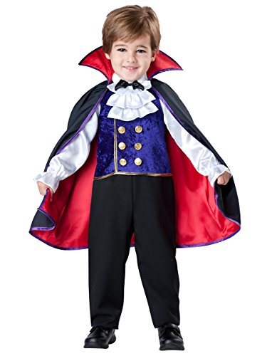 InCharacter Baby Boy's Vampire Costume, Red/Blue, 3T -