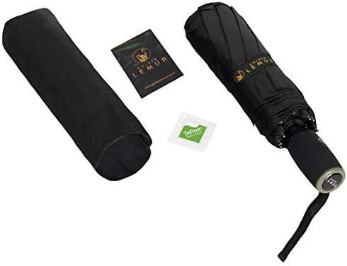 Garantie de Qualit/é Bagage Cabine Resistant Anti Retournement UV Parapluie Temp/êt Anti Vent Original de Couleures Golden Lemur Parapluie Pliant Automatique pour Homme et Femme Parapluie Voiture