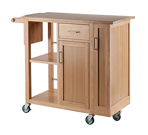 Wood & Style Furniture Douglas Cart Kitchen, Natural Home Office Commerial Heavy Duty Strong Décor