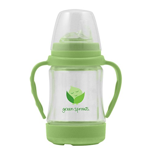 Green Sprouts Glass Sip & Straw Cup,4 Ounce