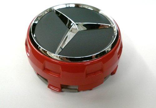 Genuine Mercedes Red Center Cap, New Raised Design.