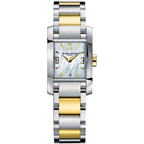Baume-Mercier-Womens-8600-Diamant-Steel-and-18k-Gold-Watch