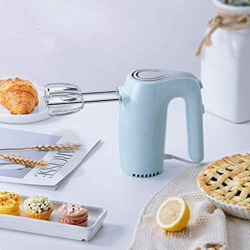 ZY Frullino, collegati alla Rete elettrica 5 velocità Basso Low Noise Standing Design Cucina tenuto in Mano Mixer Frusta, Cottura della Torta, Blu LOLDF1