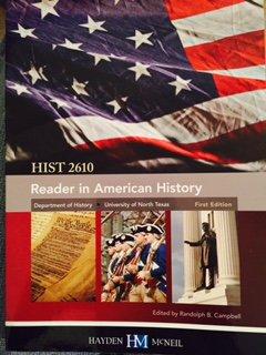 Reader in American History HIST 2610