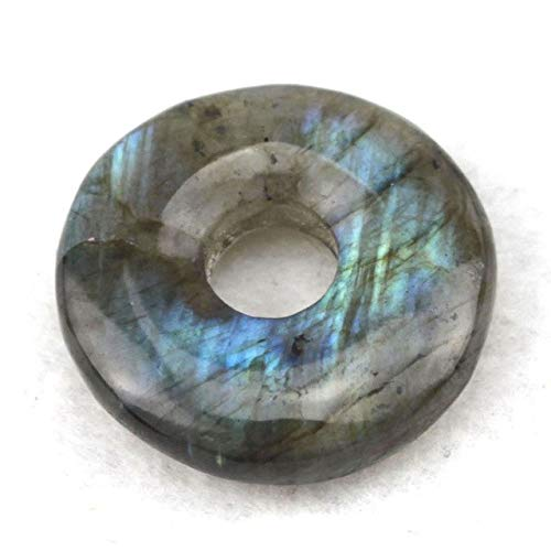 Calvas Donut Shape Labradorite Stone Beads Natural Stone Beads DIY Loose Beads for Jewelry Making I Piece Wholesale ! - (Color: 30mm)