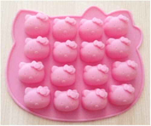(Creativemoldstore 1pcs New style 16 Holes Hello Kitty(HY1-112) Silicone Chocolate/Jelly/Pudding/Ice/Candy DIY Mould)