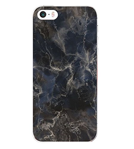 Price comparison product image Croazhi iPhone SE 5S 5 Case Cover Anti-Scratch Clear Back TPU Silicone Transparent Ultra Thin and Fashion Creative Design Soft Back Cover with simple Pattern (iPhone SE 5S 5, 6)