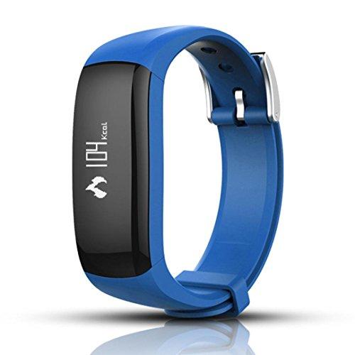 Creazy P6 Wristband Blood Pressure Watch Blood Oxygen Heart Rate Monitor Smart Watch (Blue)