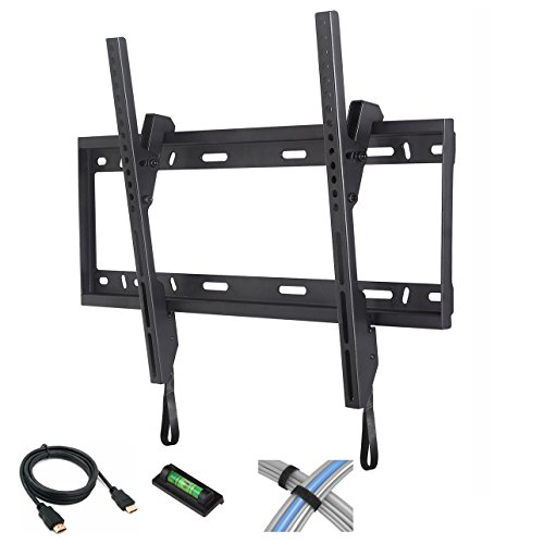 "CATALYST Tilt TV Wall Mount for 37""-84"" Flat Screen TVs with 6' High-Speed HDMI Cable, Cable Ties and Leveler"
