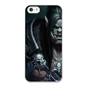 Custom made Case,World of WarCraft-grommash hurlenfer Cell Phone Case for iPhone 5 5S SE,White Case With Screen Protector (Tempered Glass) Free S-7270962