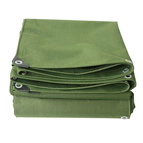 花スペイン語スツールQIANGDA オーニング サンシェード厚いキャンバス 防塵 雨を 老化に抗する 防湿パッド - 700g/平方メートル、 厚さ0.8mm、 軍の緑 8サイズオプション サイズカスタマイズ (サイズ さいず : 3x5M)