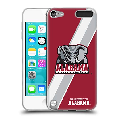 Official University of Alabama UA Stripes Soft Gel Case Compatible for Apple iPod Touch 5G 5th Gen (Alabama Ipod Touch Case)