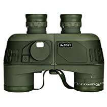 SVBONY SV27 7x50 Mlitary Binoculars Bak4 Porro Prism FMC Lens IPX7 Waterproof Binocular with Compass and Rangefinder for Boating Fishing Water Sports
