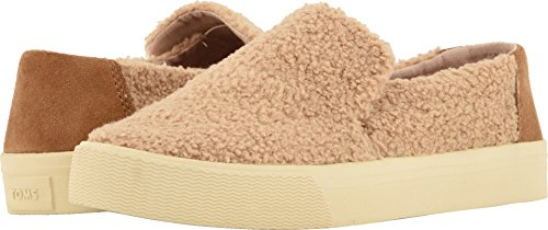TOMS Women's Sunset Light Brown Faux Shearling/Suede 6 B US