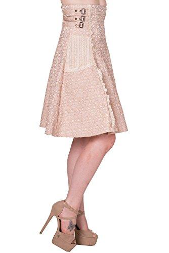 Falda victoriana a la rodilla de Banned modelo Rise Of Dawn (Beige) Beige