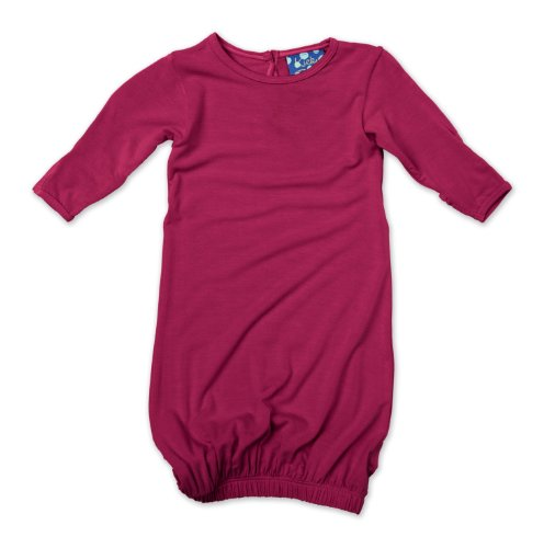 KicKee Pants Layette Gown, Orchid, - Sleeping Gowns Newborn