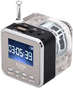 NiZHi MP3 Mini Digital Portable Music Player Micro SD USB FM Radio -TT-028-Black