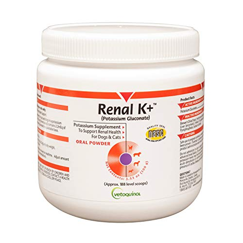 - Vetoquinol Renal K+ Powder for Dogs and Cats, 3.5oz