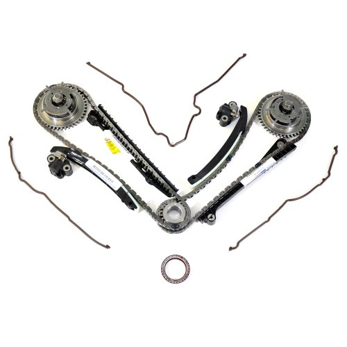 Ford 5.4L 3V Camshaft Drive Phaser Repair Kit - Phaser Sprockets, Tensioners, Guides, Chains Kit (Camshaft Chain Guide)