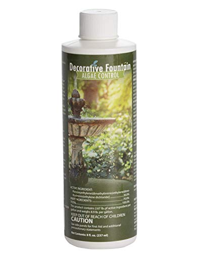 Fountain Algaecide and Clarifier, Formulated for Small Ponds, Water Features, 8oz (8 Oz Pond Water)
