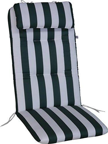 Angerer Cuscino per Sedia 50 x 120 cm, Design Verde Bianco
