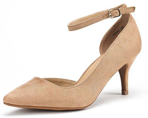 DREAM PAIRS Women's Ideal Low Heel Dress Pump Shoes