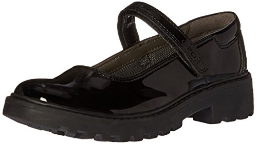 Geox J Casey Girl 8 Mary Jane, Black, 31 EU(13 M US Little Kid) - Geox Leather Mary Janes