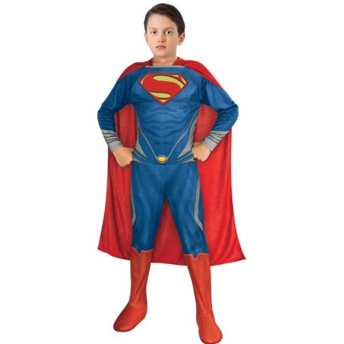 Superman Outfit For Men (Man of Steel Superman Children's Costume, Large)