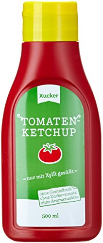 Xucker 500 ml Ketchup mit Xylit in PET-Flasche, 3er Pack (3 x 500 g)