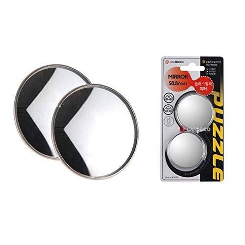 """2inch 2pcs Cardeco Puzzle Plus Alpha Circle Mirror Blind Spot Rear Side View Rearview for Car Truck Accessories 50.8mm 2"""" 2p Set"""