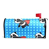 MAPOLO Super Hero Panda Blue Magnetic Mailbox Cover Oversized