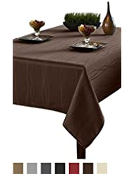 Wonderful Benson Mills Gourmet Spillproof Fabric Tablecloth, Chocolate, 60 Inch By  84 Inch