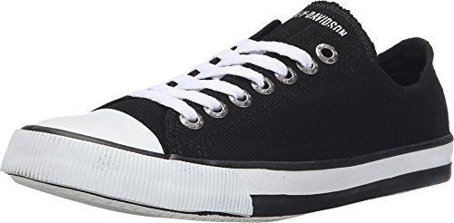 Women's Zia 2-Inch Low-Cut Black Canvas Sneakers D83817