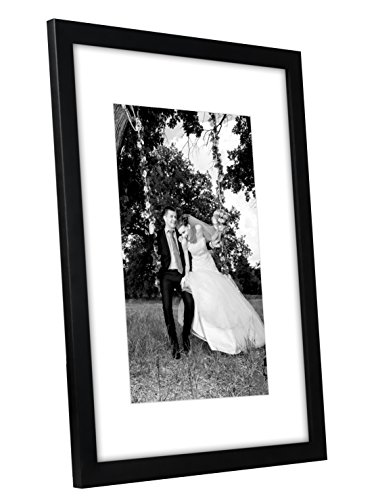12×16-Black-Picture-Frame-Matted-to-Fit-Pictures-8×12-Inches-or-12×16-Without-Mat-Glass-Front-Hanging-Hardware-Included