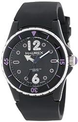 Haurex Italy Women's PN379DNP Beauty Black Dial Rotating Bezel Crystal Watch