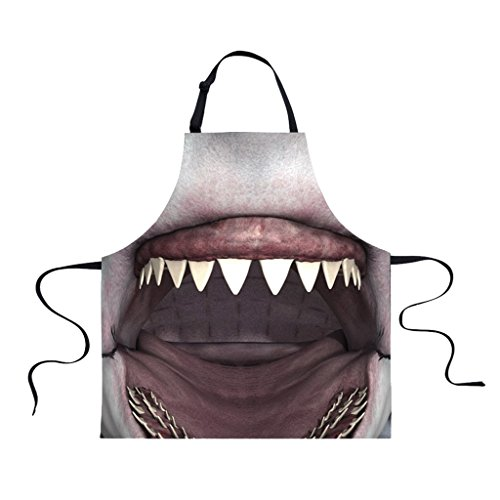 MonkeyJack Women Men Animal Waterproof Apron Chefs Kitchen Cooking Craft Art Bib Apron - Shark by MonkeyJack