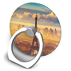 Dorothy Eiffel-Tower-Wallpapers Cell Phone Ring Holder Universal Smartphone Ring Grip Stand Car Mount 360 Rotation for iPhone, IPad, Samsung, HTC, Google Pixel, Nokia, LG