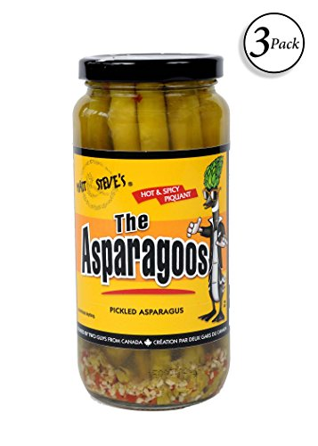 The Asparagoos - Hot & Spicy, Pickled Asparagus, 16 oz (3 pack)