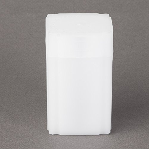 (5) Coinsafe Brand Square White Plastic (Medallion) Size Coin Storage Tube Holders Model: Office Supply Product Store