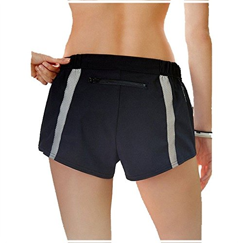 MAYUAN520 Frauen Yoga Fitness Sport Training Shorts Frauen Stretch mit Kurzen Hosen Fitnessraum Sweatpants Workout Elastische Enge Shorts
