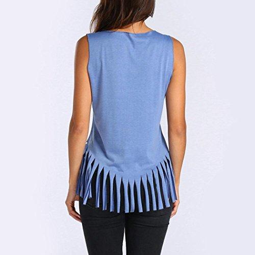 cher Pas Manche Gland Dbardeur Chemises Et Rond Clair Sexyville Shirt Casual Papillon Col T Sans Tops Gilet Impression Femmes Bleu 6nqzzwZC